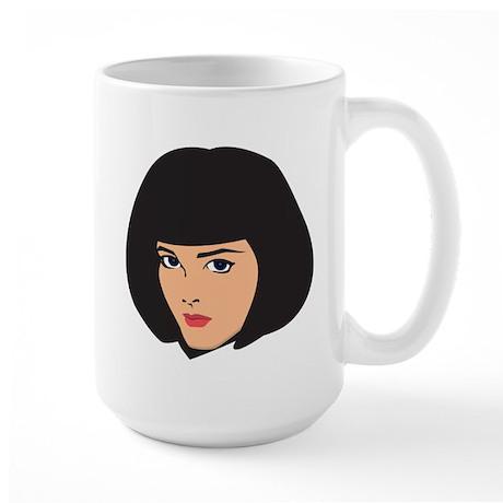 Lady Girl Femal Face Large Mug