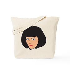 Lady Girl Femal Face Tote Bag
