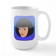 i App Lady Girl Femal Face Mug