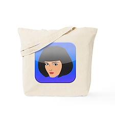 i App Lady Girl Femal Face Tote Bag