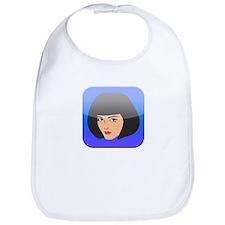 i App Lady Girl Femal Face Bib