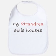 My Grandma Sells Houses Bib - Multi Colors