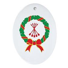 Clan Cameron Christmas Oval Ornament
