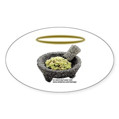 Holy Guacamole! Oval Decal
