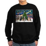 XmasMagic-6 Poodles Sweatshirt (dark)