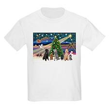 XmasMagic-6 Poodles T-Shirt