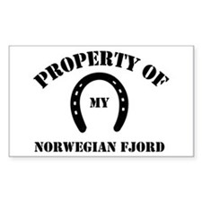My Norwegian Fjords Rectangle Decal