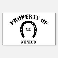 My Nonius Rectangle Decal