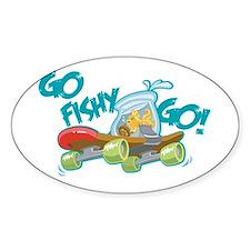 Go Fishy Go! Oval Decal