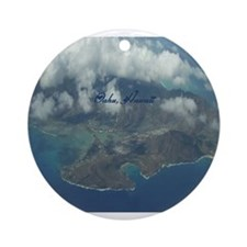 Above Oahu Ornament (Round)