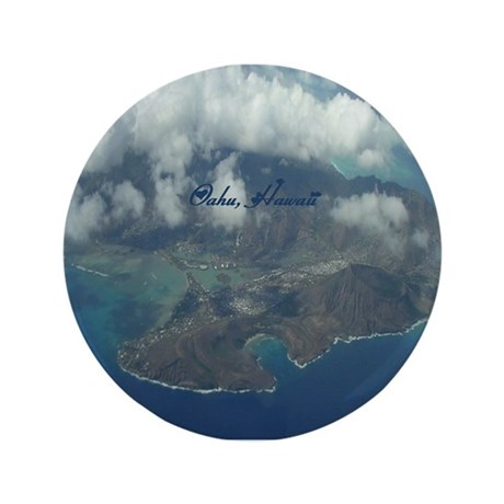 "Above Oahu 3.5"" Button (100 pack)"