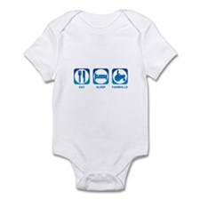 Eat Sleep FarmVille Infant Bodysuit