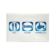 Eat Sleep FarmVille Rectangle Magnet (10 pack)