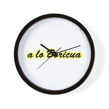 a lo Boricua Wall Clock