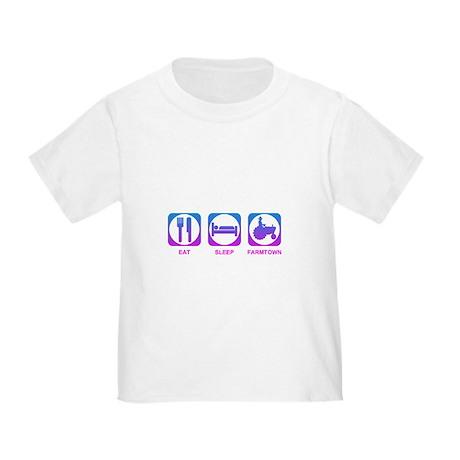 Eat Sleep FarmTown Toddler T-Shirt