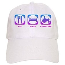 Eat Sleep FarmTown Baseball Cap