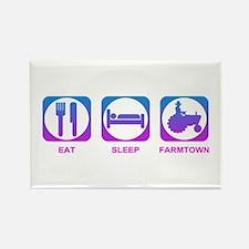 Eat Sleep FarmTown Rectangle Magnet