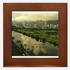 Ala Wai Canal Framed Tile