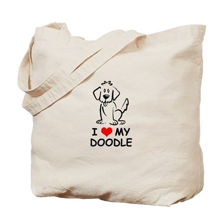 I Love My Doodle Tote Bag