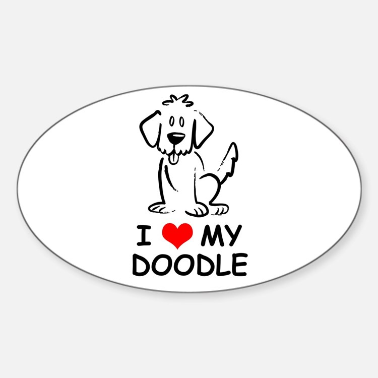 I Love My Doodle Decal
