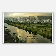 Ala Wai Canal Rectangle Decal