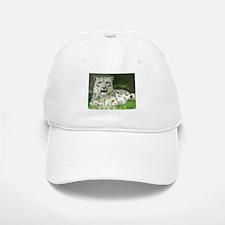 Snow Leopard 3 Baseball Baseball Cap
