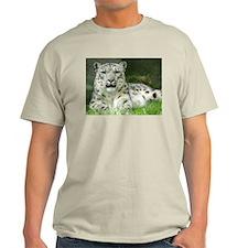 Snow Leopard 3 Ash Grey T-Shirt
