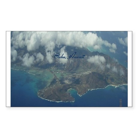 Above Oahu Sticker (Rectangle)