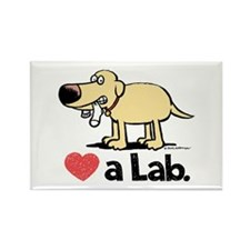 Love a Lab (Yellow)- Rectangle Magnet