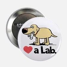 "Love a Lab (Yellow)- 2.25"" Button"