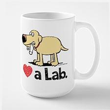Love a Lab (Yellow)- Large Mug