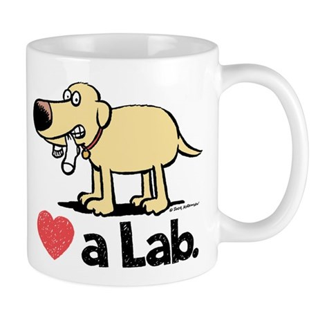 Love a Lab (Yellow)- Mug