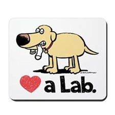 Love a Lab (Yellow)- Mousepad