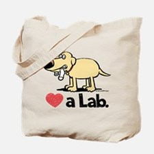 Love a Lab (Yellow)- Tote Bag