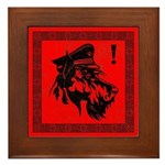 Scottish Terrier Revolution! icon Framed Tile