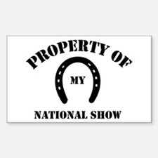 My National Show Rectangle Decal