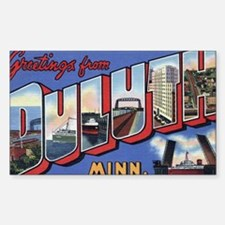 Greetings from Duluth Rectangle Decal