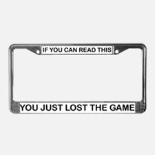 THE GAME License Plate Frame