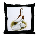 Australian Saddleback Pigeon Throw Pillow