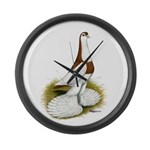 Australian Saddleback Pigeon Large Wall Clock