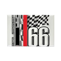Mustang deluxe 1 Rectangle Magnet (10 pack)