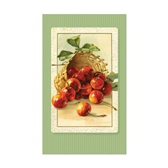 Red Cherries in a Basket Rectangle Sticker 10 pk)