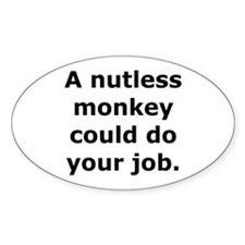 Nutless Monkey Oval Decal