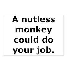 Nutless Monkey Postcards (Package of 8)