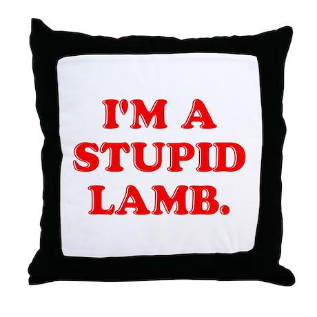 Stupid Lamb Throw Pillow