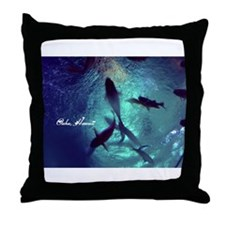 Circle Of Fishes Throw Pillow