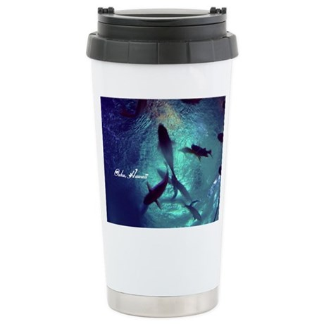 Circle Of Fishes Stainless Steel Travel Mug