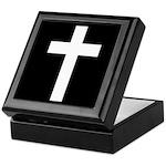 White Cross Keepsake Box