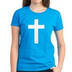 White Cross Women's Dark T-Shirt