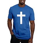 White Cross Men's Fitted T-Shirt (dark)